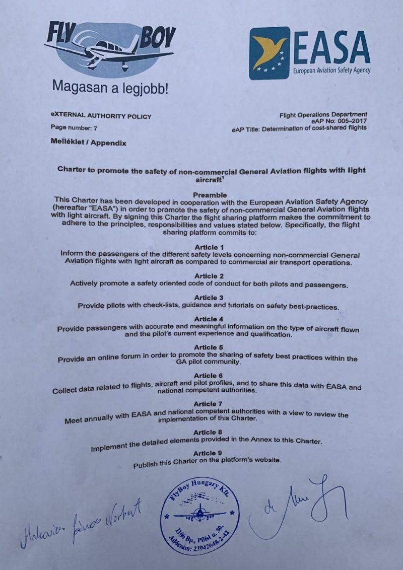 EASA szabályzat